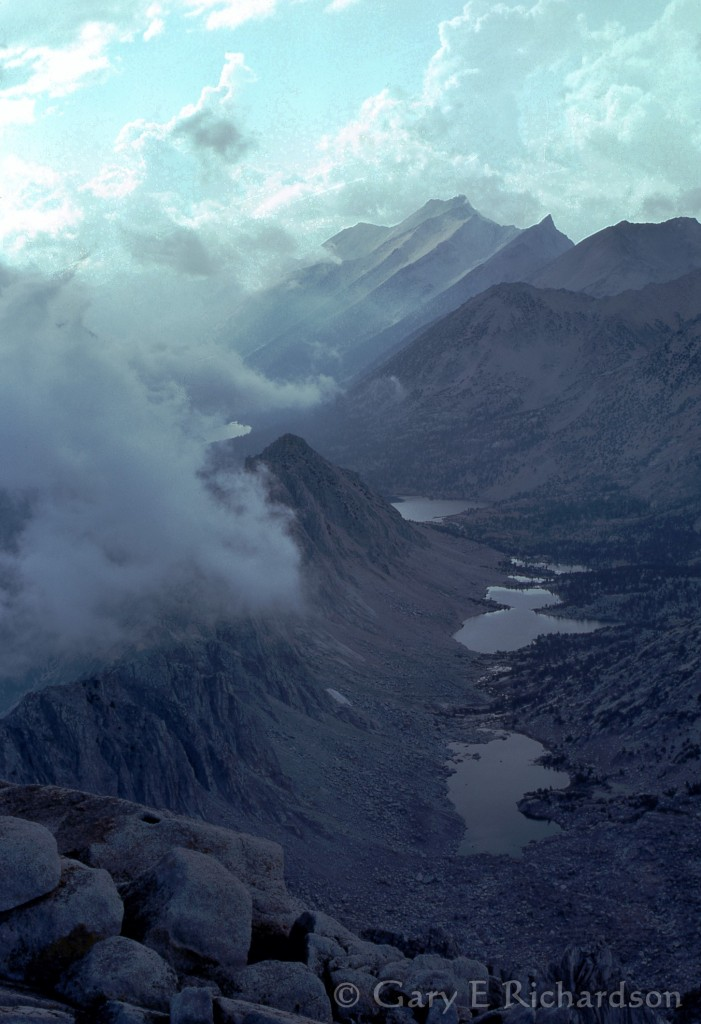 Kearsarge Lakes from University Peak, 1976