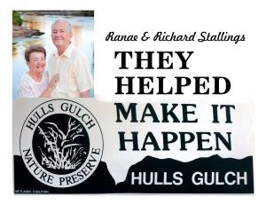 Stallings helped save Hulls Gulch